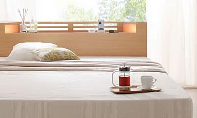 洗練されたナチュラルなベッド