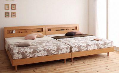 ベッドを2台並べる