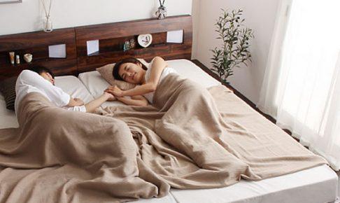 シングルベッドを2台並べる