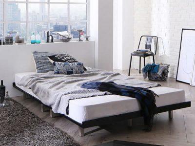 黒いすのこベッド