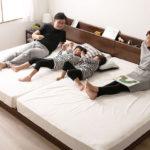家族4人で快適に寝られるベッド