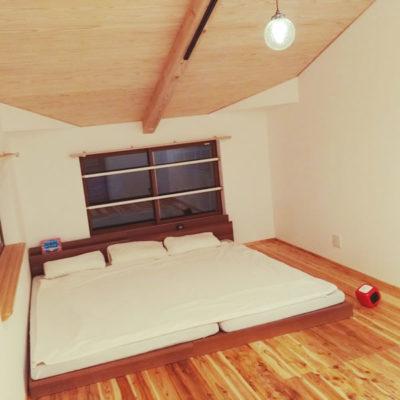 屋根裏のファミリーベッド