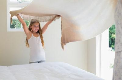 子どもがいる寝室でのホコリ
