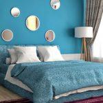 水色の寝室