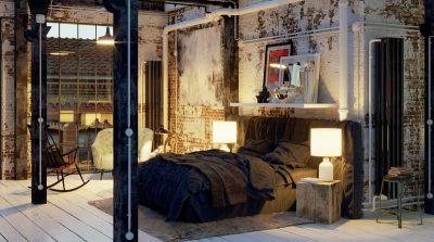 おしゃれな寝室照明の事例