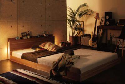 照明つきベッド