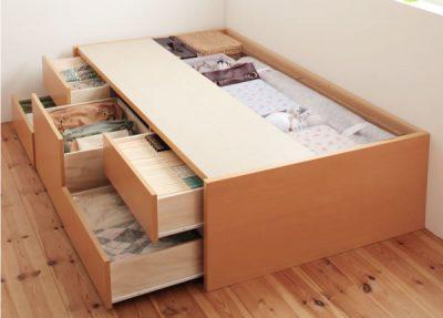 狭い部屋の収納ベッド