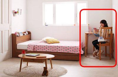 足元が有効活用できるショートベッド