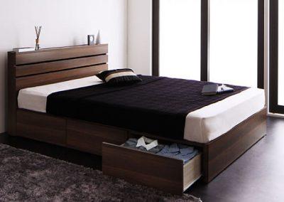1段の引き出し付き収納ベッド