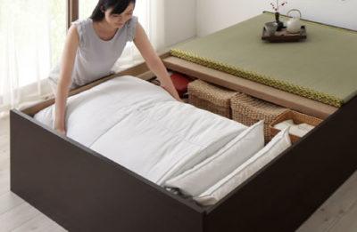 布団が収納できる畳ベッド
