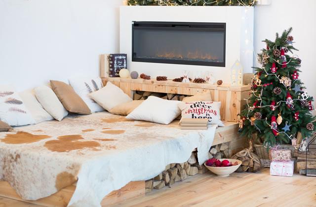 クリスマス北欧風ベッドルーム