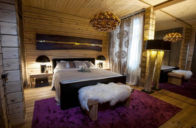 セレブなクリスマスのベッドルーム