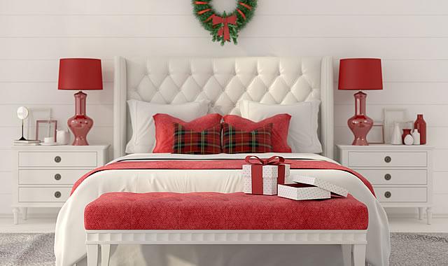 大人可愛いクリスマスの寝室