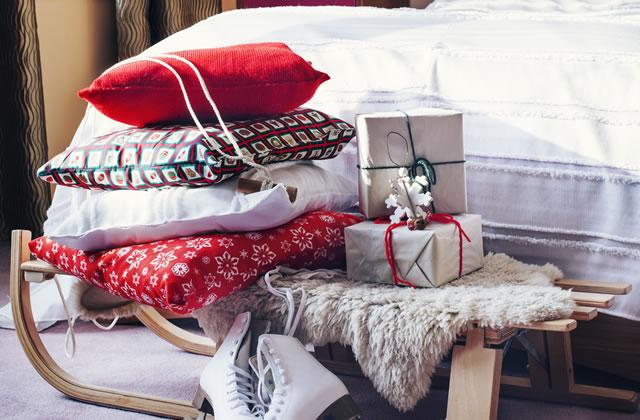 クリスマスのベッドルーム