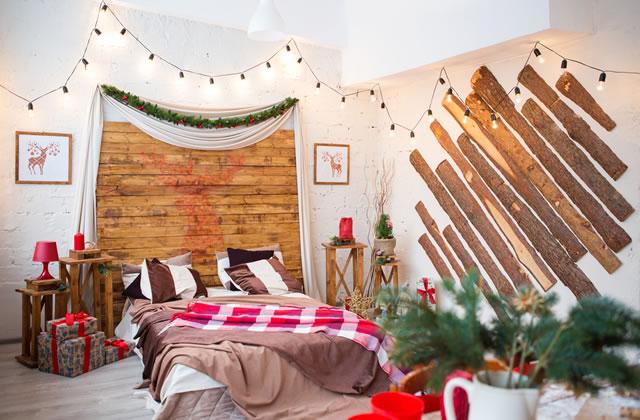 北欧風クリスマス寝室